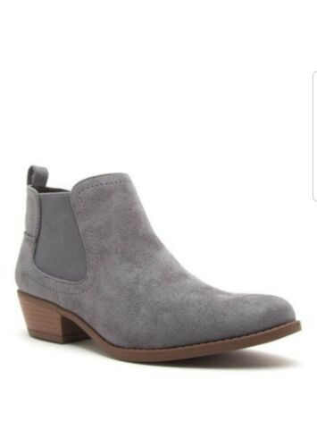 10 9 NEW GRAY SUEDE ANKLE BOOTIES SIZE 5.5 6 7 8.5 8