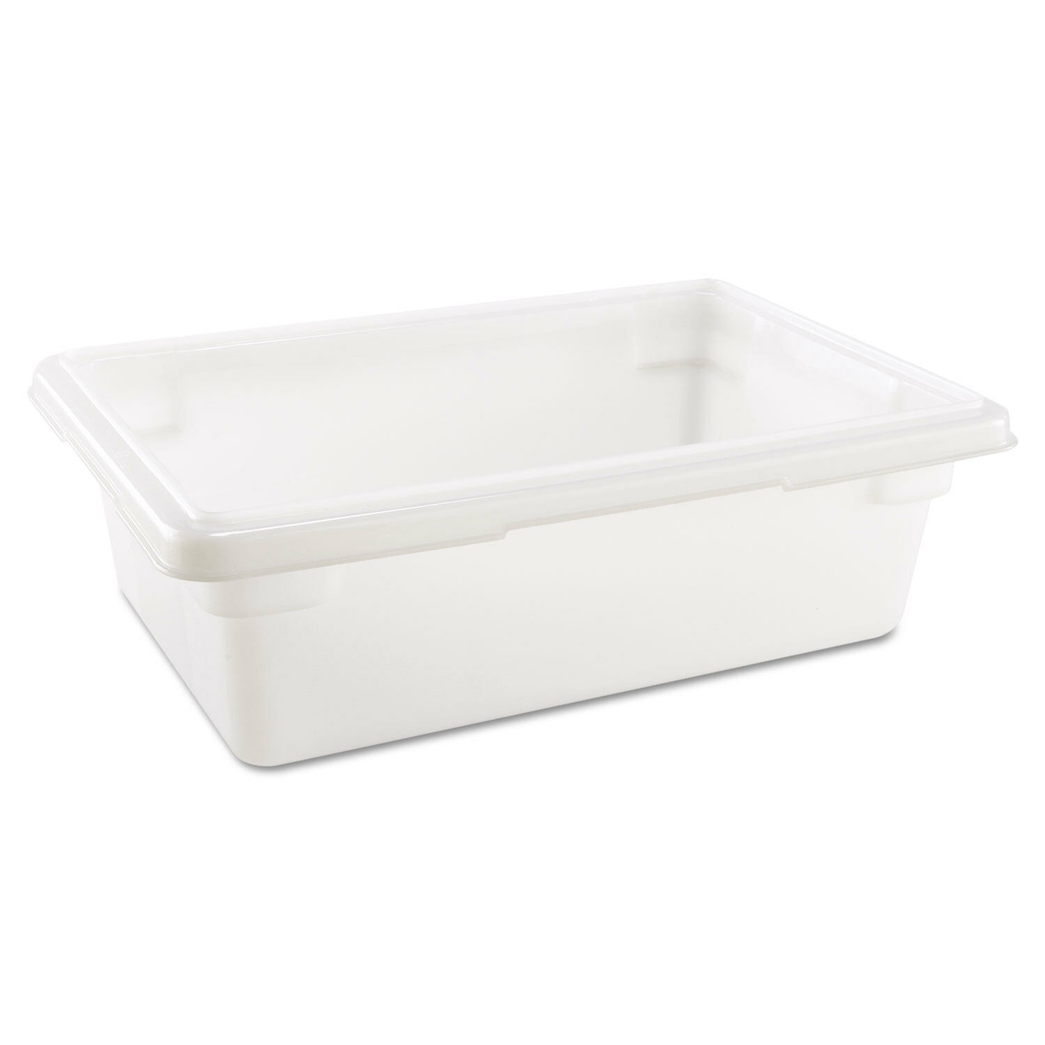 Rubbermaid Commercial Food Storage Tote, 3.5 Gallon, White