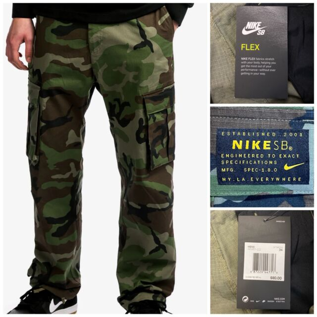 Nike SB Flex Camo Men Cargo Pants Size