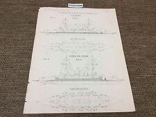 1899 Antico architetti Print-Buenos Aires/Esmeralda, stampa della Marina, i piani