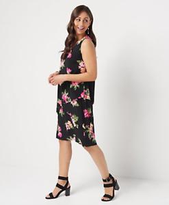 Susan-Graver-Regular-Liquid-Knit-Sleeveless-Tiered-Dress-Black-Floral-2X