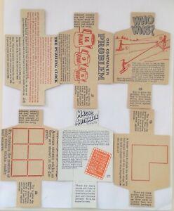 CRACKER JACK LOT OF 6 VINTAGE PAPER PUZZLE PRIZES