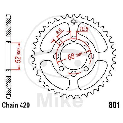Piñón 54 Dientes Paso 420 JTR801.54