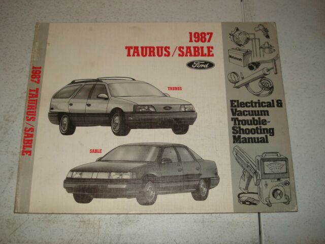 1987 Ford Taurus Mercury Sable Wiring And Vacuum Diagram