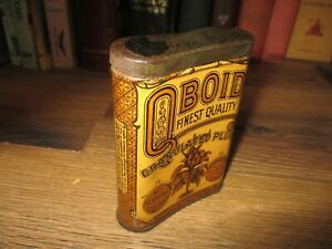 Q-BOiD-TOBACCO-TIN-QBOID-POCKET-can-LARUS-amp-BRO-CO-RICHMOND-USA-HINGED-ANTIQUE