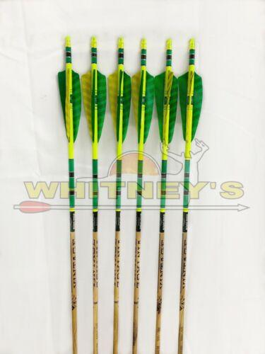 500 //.005-6 Pack Target Black Eagle Archery Vintage Arrows for Bow Hunting