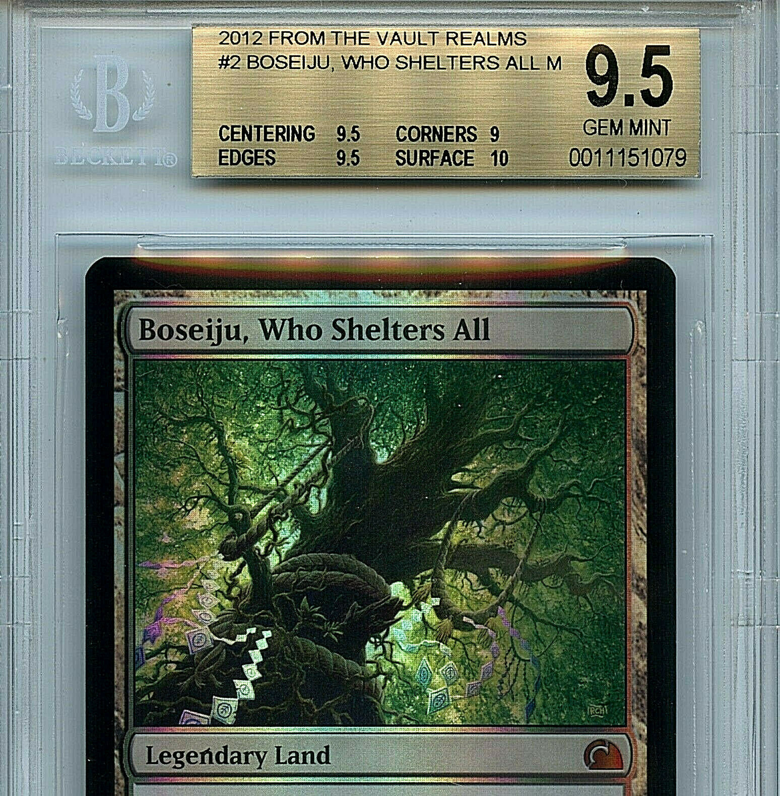 MTG Boseiju Who Who Who Shelters All BGS 9.5 FTV Realms Mystic Foil card Amricons1079 2988d0
