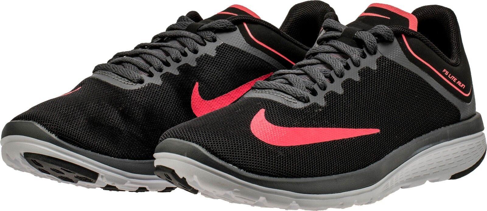 Nike Mujeres SELLADOS DE FÁBRICA LITE RUN 4 Negro Hot Punch 852448-011 Talla 6 6.5 10