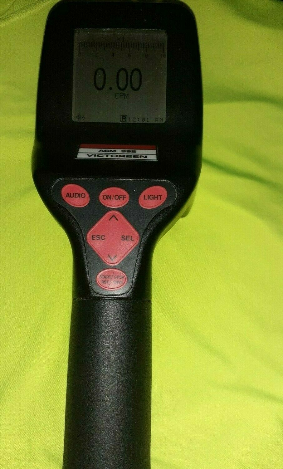 s l1600 - geiger counter radiation detector fluke biomed victoreen asm 992