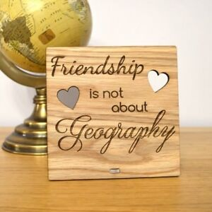 Friendship Is Not About Geography Immigrating Leaving Going Away