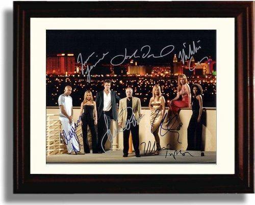Framed Las Vegas Autograph Promo Print Cast Signed