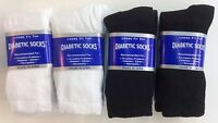 Best Quality 6 & 12 Pairs White And Black Diabetic Socks Made In Usa