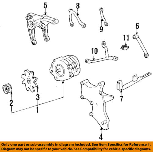 1998-2002 CAMARO FIREBIRD LS1 V8 REAR ALTERNATOR BRACKET NEW GM # 12556915