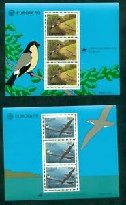 EUROPA-1986-Azores-Madeira-Souvenir-sheets-NH-VF-Scott-24-00