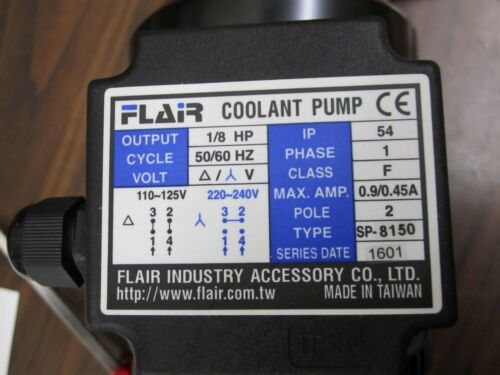 SP-0150 Filterable Coolant Pump 1//10HP 150mm Single Phase 115//230V