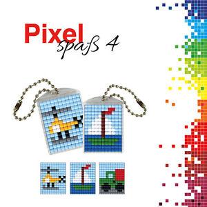 Pixel-Spass-Medaillions-Set-4-Hubschrauber-Auto-Boot-90023-00505-Neu