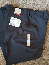 Croft/&Barrow No-Iron Stretch Khaki Classic-Fit Flat-Front Pants,34X34,Black,NWT