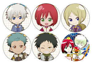 akagami no shirayukihime snow white with the red hair anime button