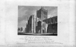 N-W-New-Hereford-Cathedral-Engraving-Published-IN-1815