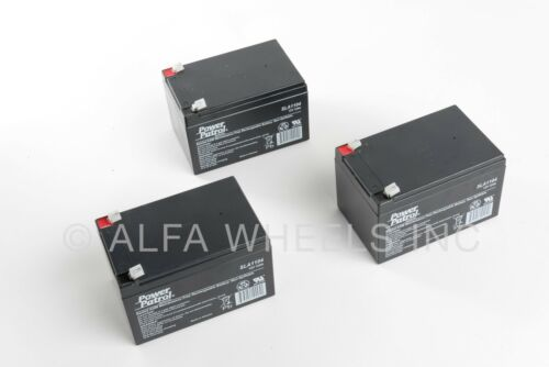 three 3 electric scooter alarm Batteries 12V 12AH SLA f UPS Battery gokart