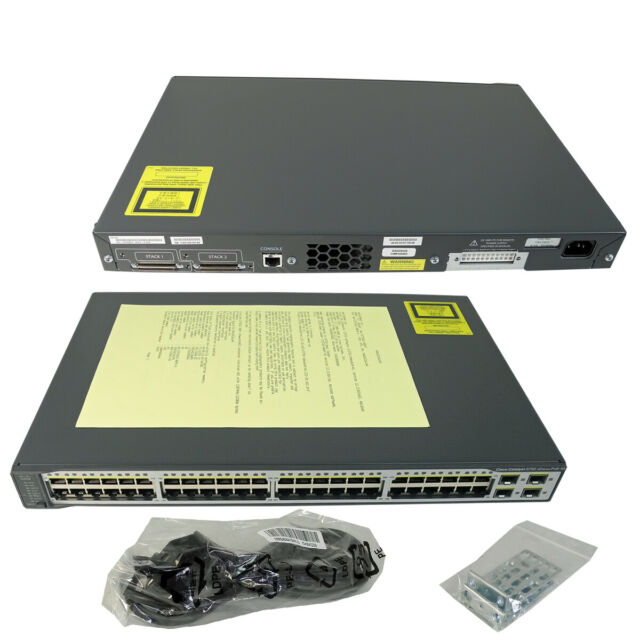 Cisco Catalyst ws-c3750v2-48ps-s 48 ports PoE + 4-Port Gigabit Ethernet Switch
