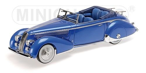 Lancia Astura Tipo 233 Corto 1936 bleu 1 43 Model MINICHAMPS