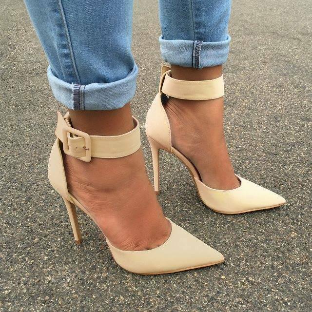 Women's Pointed Toe Super High Heels Buckle Causal Cocktail Party Club shoes New