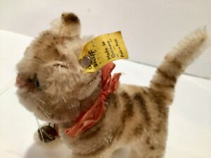 Steiff 15cm Tapsy cat ean 1315,00 1959-66 all id's mint condition