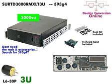 393g4~ APC Online SmartUPS 3000va UPS 208/240v SURTD3000RMXLT3U #NewBatts