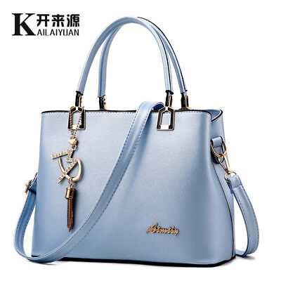 Womens Soft PU Leather Handbag Shoulder Bag Messenger Crossbody Bag