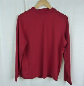 St-John-039-s-Bay-Red-Long-Sleeve-Turtleneck-Shirt-100-Cotton-Women-039-s-Size-1X