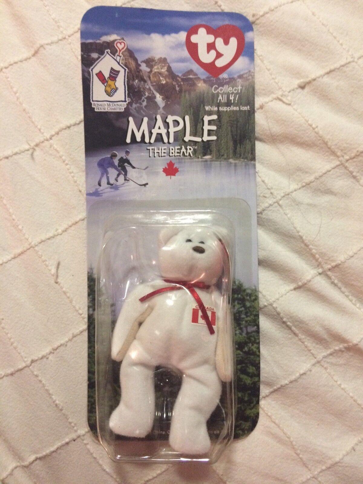 Maple, rare retired beanie baby babies