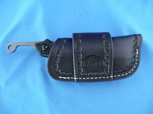 TOPS-Tac-Raze-Leather-Horizontal-Cross-Draw-Pocket-Knife-Sheath-Ruff-s-Black