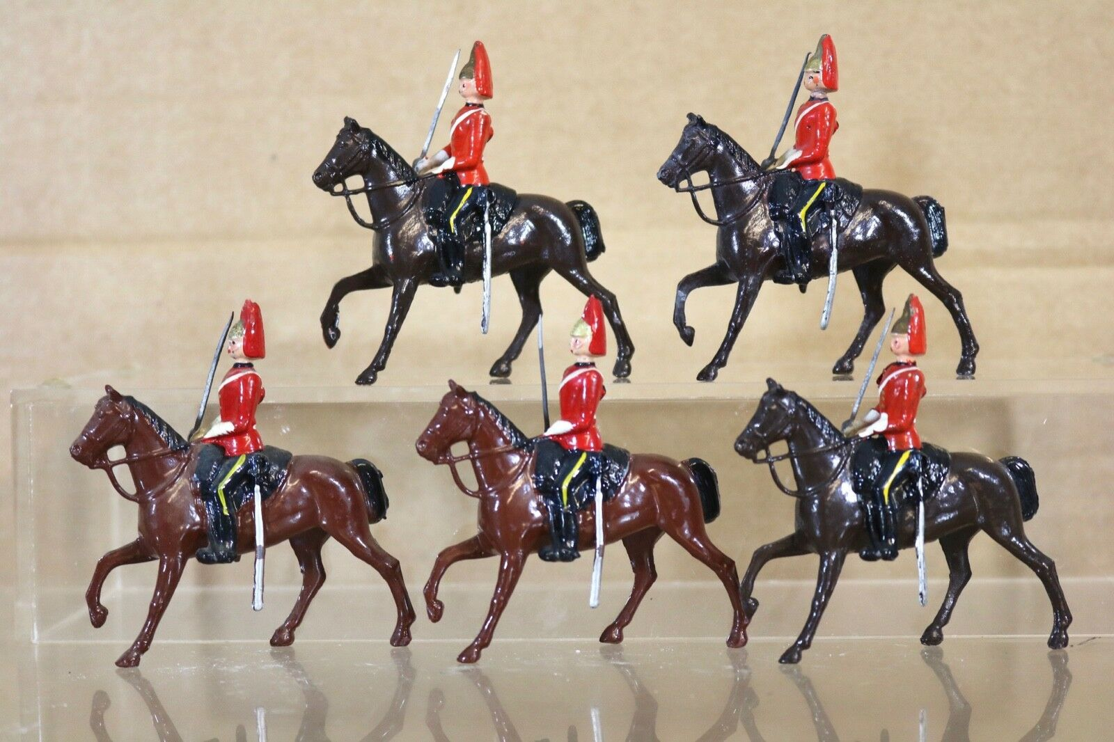 Britains Re Acabado Hueco Fundido 5 X Real Horse Guards On Parade Nq