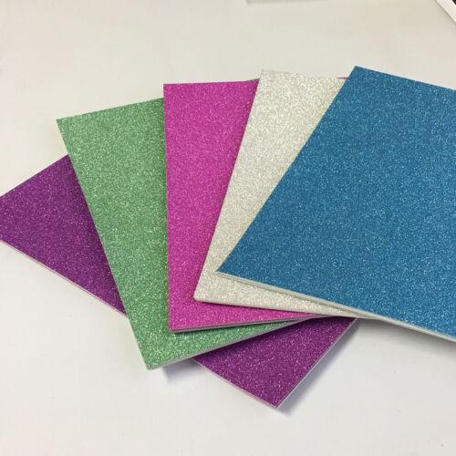 Gama de tarjetas de brillo A4 250gsm 5 colores vibrantes Art Craft Pack 10 Hojas Brillo