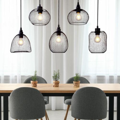 RGB LED Käfig Pendel dimmbar Vintage Hänge Leuchte Decken Lampe Fernbedienung