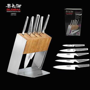 Genuine Global Katana 6pc Knife Block Set Made in Japan RRP $779 ...