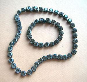 1244 / Collier Et Bracelet En Strass Gris Zk54eqcy-10115229-677122116