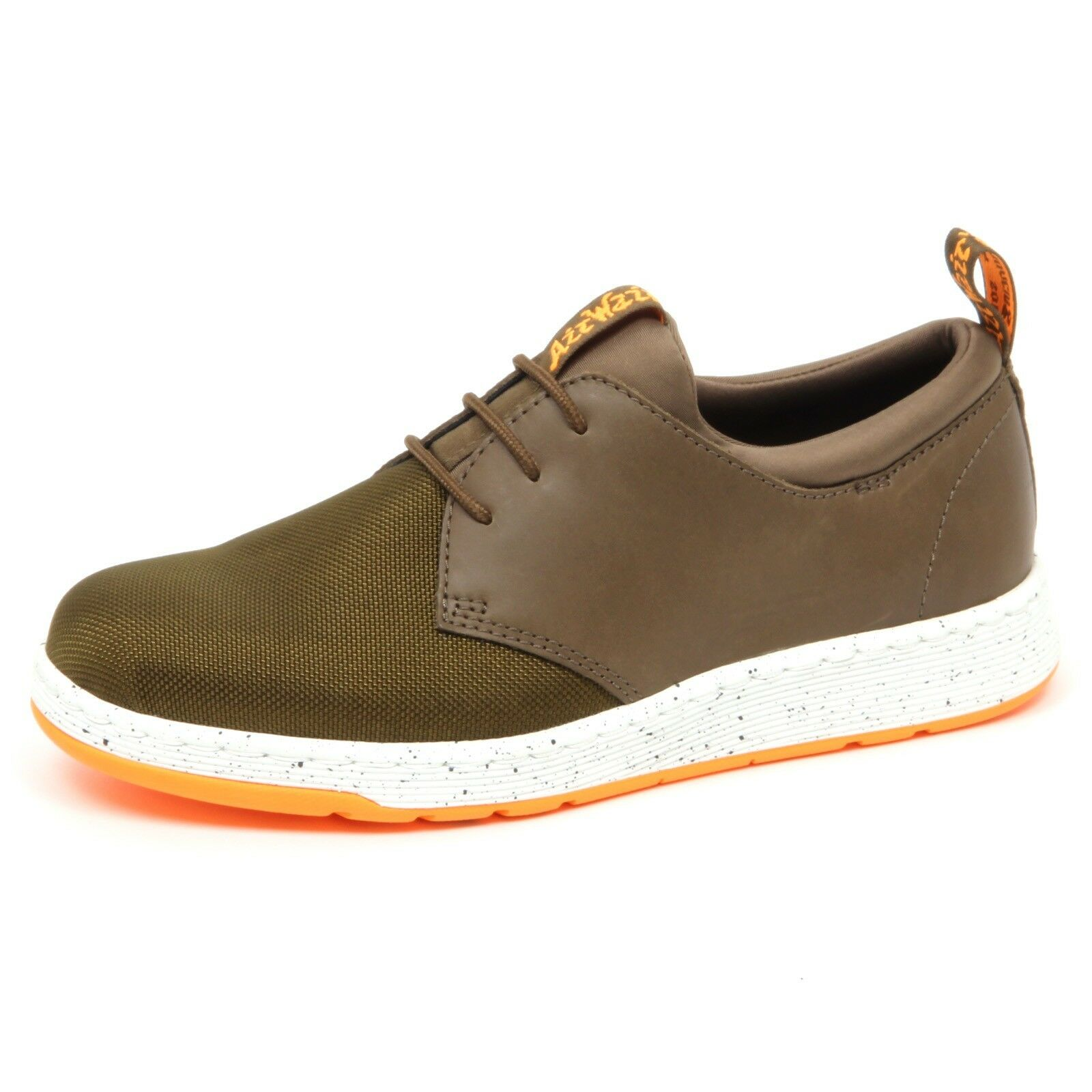 D7340 (without box) sneaker uomo green leather/tissue DR. MARTENS shoe man