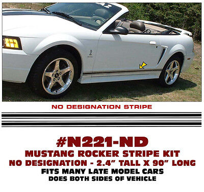COBRA NAME LICENSED GE-N360 FORD MUSTANG COBRA LOWER ROCKER SIDE STRIPE KIT