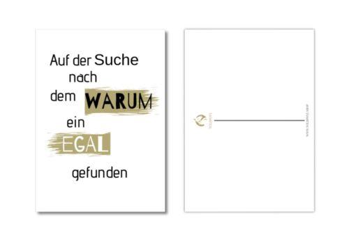 """10er Postkarten Set /""""Karma/"""" zum Thema Leben /& Freude mit schönen Sprüchen"""