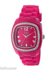 NEW TKO Orlogi Women's Tivoli Swarovski Crystal Hot PINK Fashion Watch NIB