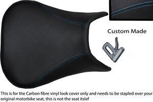 Blue Stitch Custom 99 02 Fits Yamaha 600 Yzf R6 Carbon Fiber Vinyl