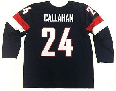 RYAN CALLAHAN TEAM USA 2014 OLYMPICS NIKE JERSEY NEW YORK RANGERS
