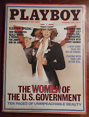 Playboy Magazine November 1980  ~  Women of the U.S. Government ELECTION Special