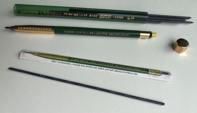 Vintage Faber Castell Locktite 9800SG Mechanical Pencil 2mm Lead Holder USA