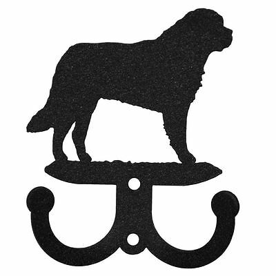 SWEN Products CHOW CHOW Dog Black Metal Key Chain Holder Hanger