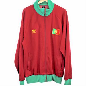 Q2-Vintage-Adidas-Portugal-Flag-Track-Jacket-Trefoil-Logo-Red-Mens-Size-2XL-XXL