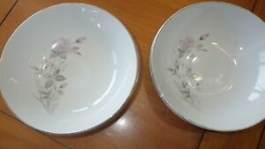 """Coupe Cereal Bowl 5 6"""" Soup Bowls Romance Rose by Fine China of Japan"""