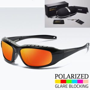 New-POLARIZED-RED-Wind-Resistant-Padded-Motorcycle-Biker-Sunglasses-Goggles-Men